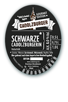 Cadolzberger Schwarze Cadolzburgerin (Imperial Stout)